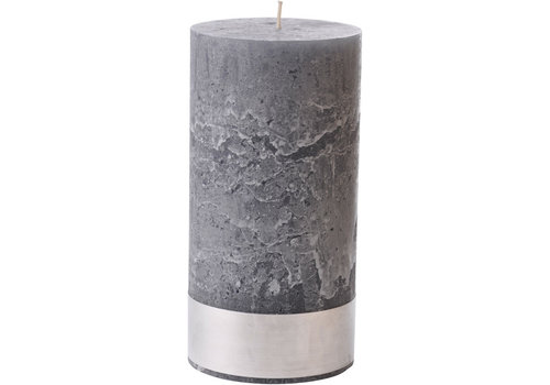 Homestore Libra Dark Grey Rustica Pillar Candle 10x20cm