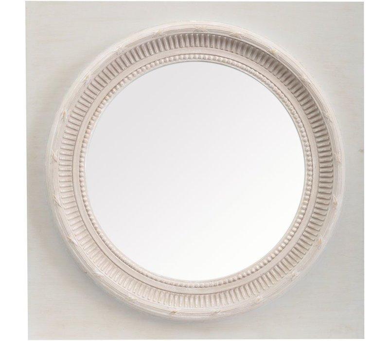Talia Round Mirror On Square Frame