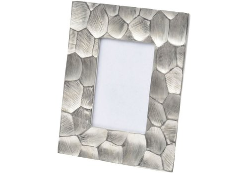 Homestore Brockley Faceted Silver Aluminium 6x4 Inch Photo Frame Small