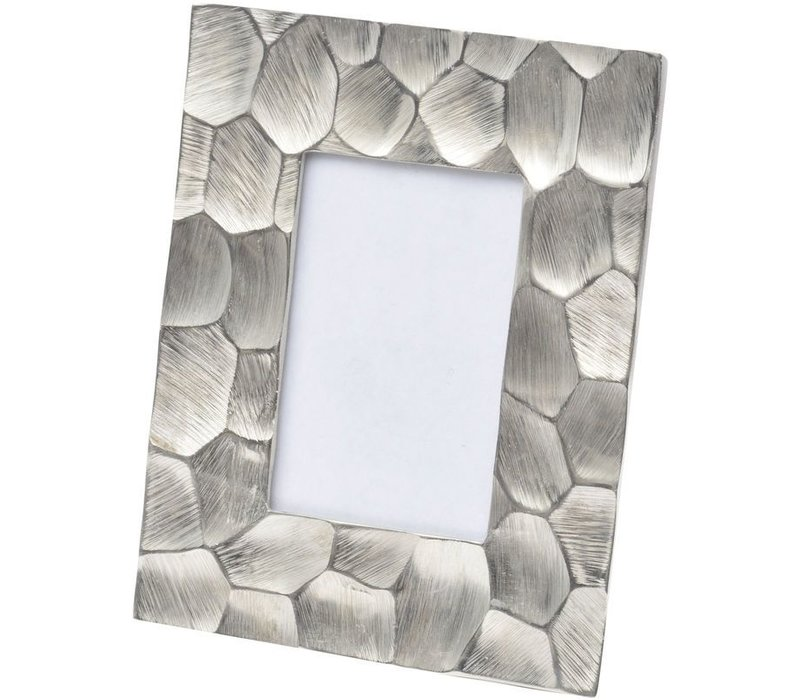 Brockley Faceted Silver Aluminium 6x4 Inch Photo Frame Small