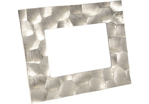 Homestore Brockley Faceted Silver Aluminium 5x7 Inch Photo Frame Large