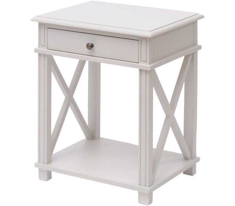 Dawson Pale Grey Poplar Bedside Table
