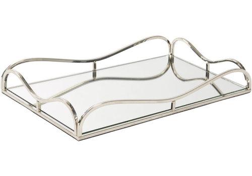 Homestore Rectangular Rushford Nickel Plated Mirror Tray
