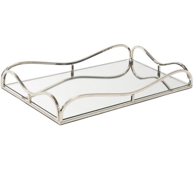 Rectangular Rushford Nickel Plated Mirror Tray