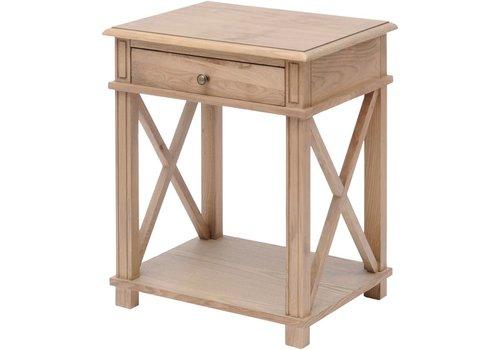 Homestore Darwin Natural Ash Bedside Table