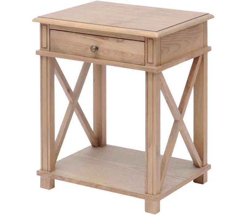 Darwin Natural Ash Bedside Table