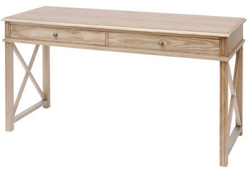 Homestore Darwin Natural Ash 2 Drawer Desk