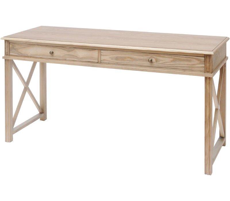 Darwin Natural Ash 2 Drawer Desk