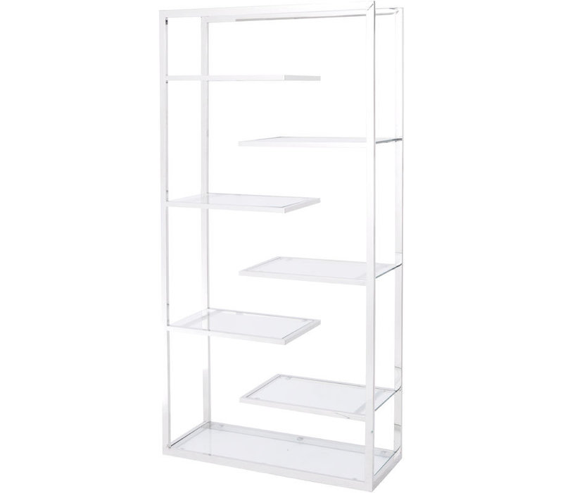 Linton Stainless Steel And Glass Display Unit