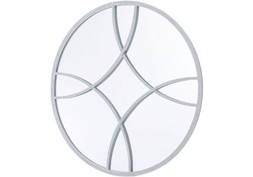 Homestore Round Soft Grey Circle Link Mirror