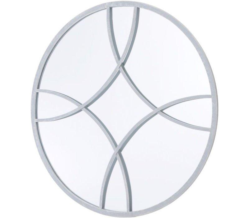 Round Soft Grey Circle Link Mirror
