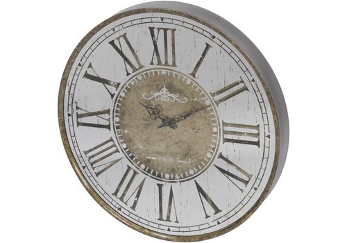 Homestore Vienna Antique Gold Round Mirrored Wall Clock