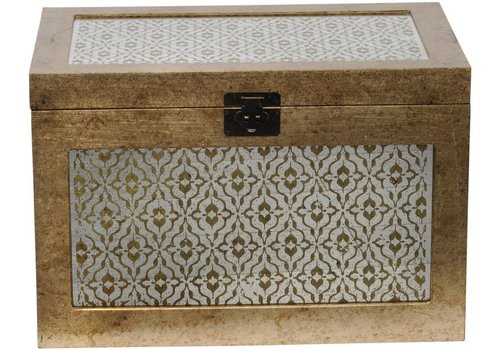 Homestore Vienna Antique Gold Diamond Trunk