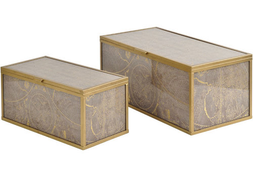 Homestore Vienna Antique Gold Atlas Set Of 2 Boxes