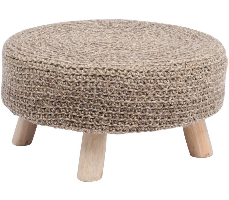 Nomad Taupe Knitted Stool Large
