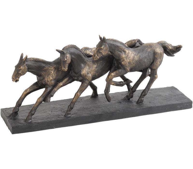 Antique Bronze Running Horse Sculpture