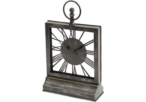 Homestore Square Skeletal Mantel Clock