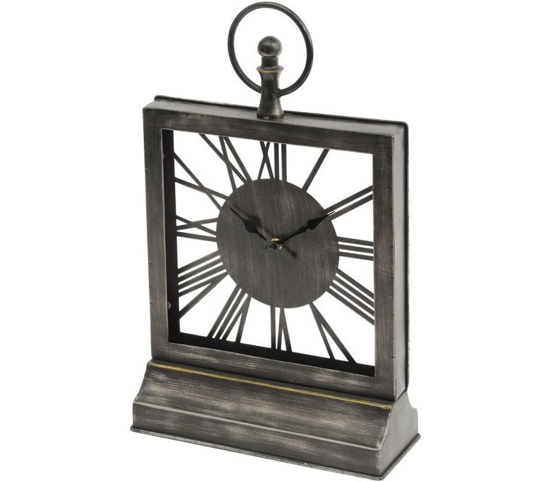 Square Skeletal Mantel Clock