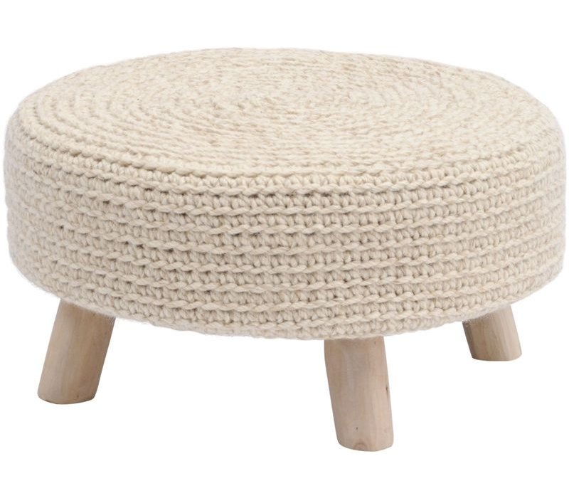 Nomad Natural Knitted Stool Large