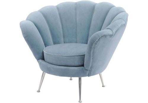 Homestore Blue Velvet Shell Chair  - Halcyon Collection