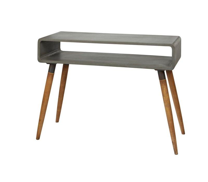ATRIUM console in concrete &  wood - Large