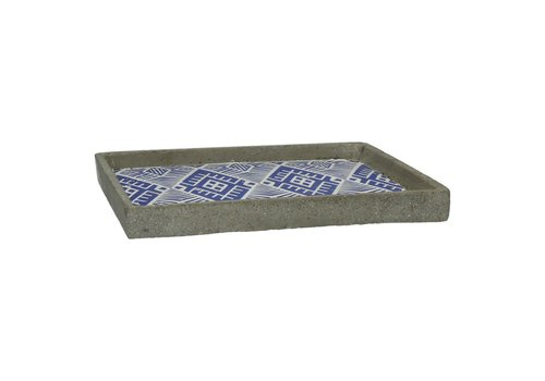 Homestore Cheyenne Tray in blue ceramic