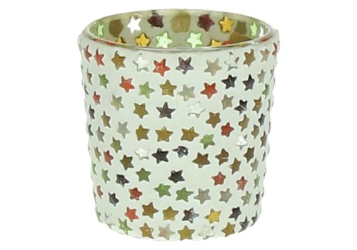 Homestore Stars T-Light Holder with Stars in mosaic glass - small