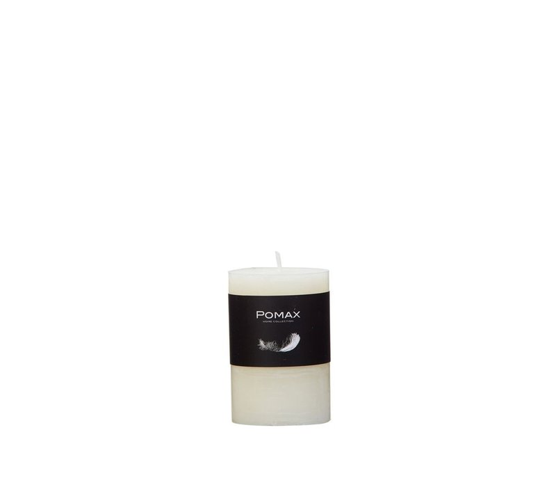 Candle - ivory - D5H7.5cm