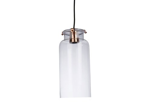Homestore Ice Hanging Lamp in Glass with Metal Rim