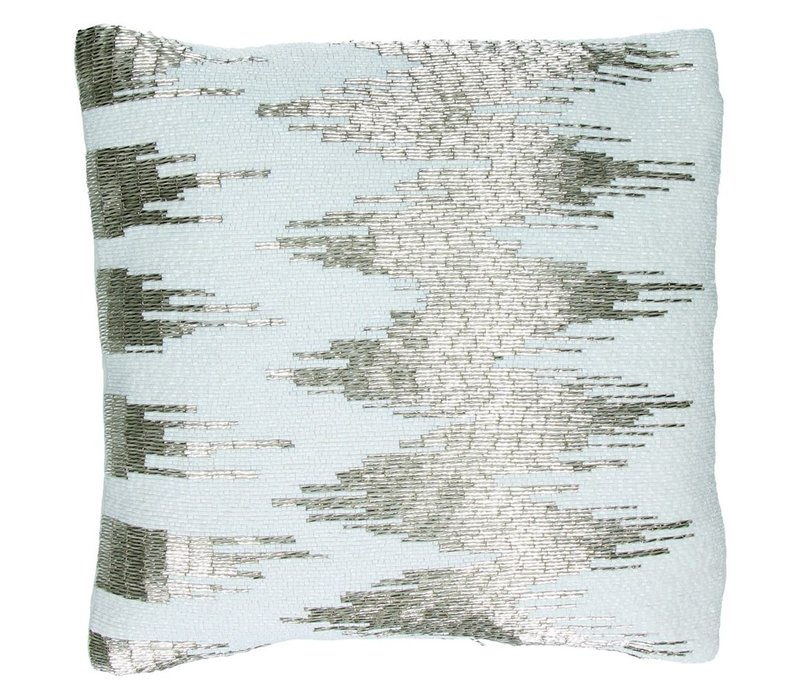 Luxuous Cushion beaded embroidery in Velvet