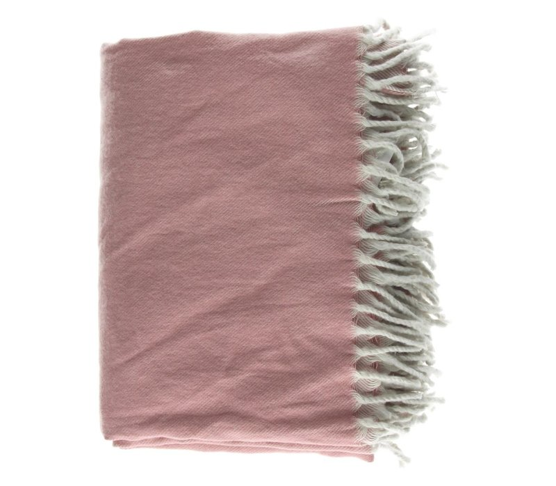 Cocooning Throw with Fringes 170x130cm (Pink)