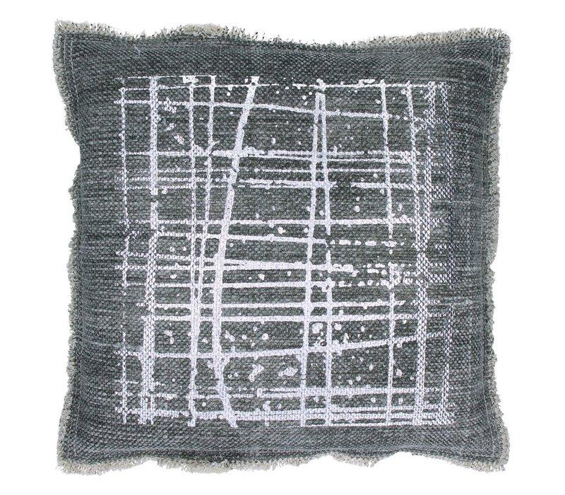 Indaco Cushion 45x45cm in Grey