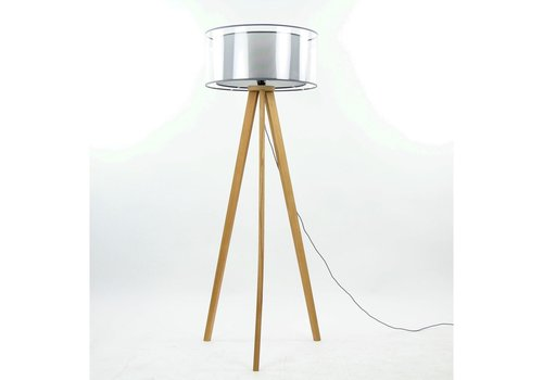 Homestore Lisbon Tripod Floor Lamp (Beech Wood)