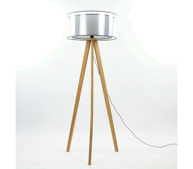 Lisbon Tripod Floor Lamp (Beech Wood)