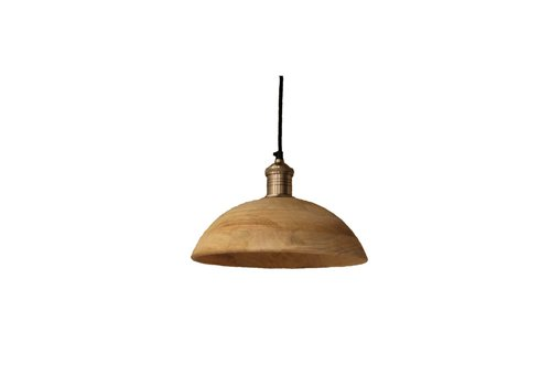 Homestore Olbia Hanging Lamp with Mango Wood & Iron - Medium