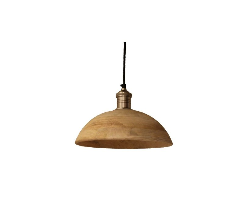 Olbia Hanging Lamp with Mango Wood & Iron - Medium