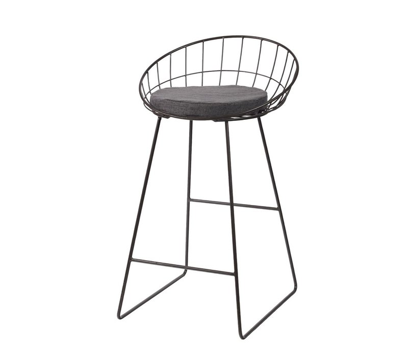 Trellis Bar Chair in Gun Metal Grey