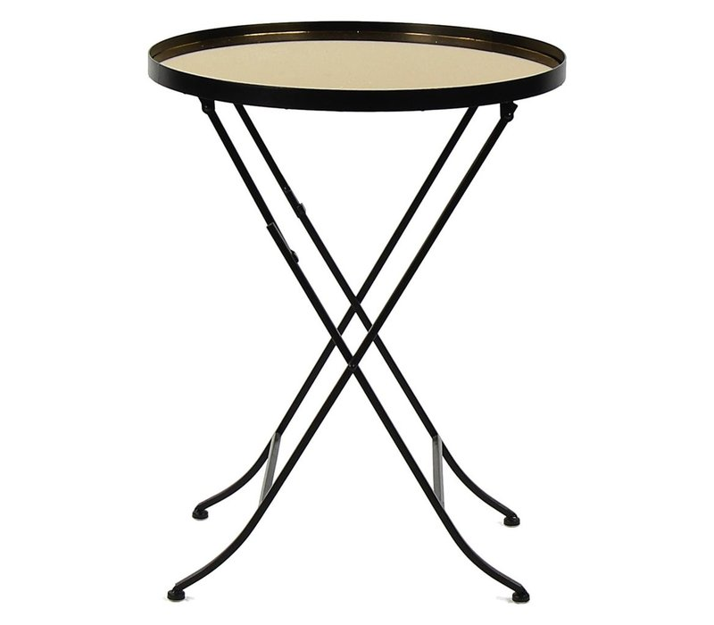 Palace Side Table - Mirror, metal & Gold