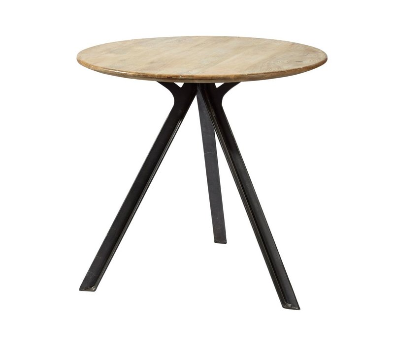 Compas Side Table in Mango Wood
