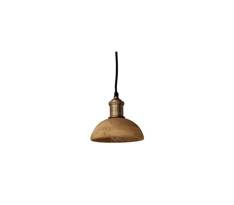 Olbia Hanging Lamp with Mango Wood & Iron - Small