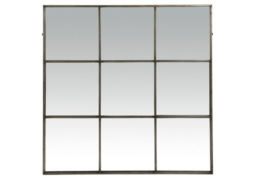 Homestore PALACE mirror 9 partitions in antic silver -