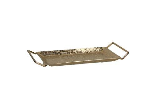 Homestore Tam Dao Tray in Aluminium & Gold