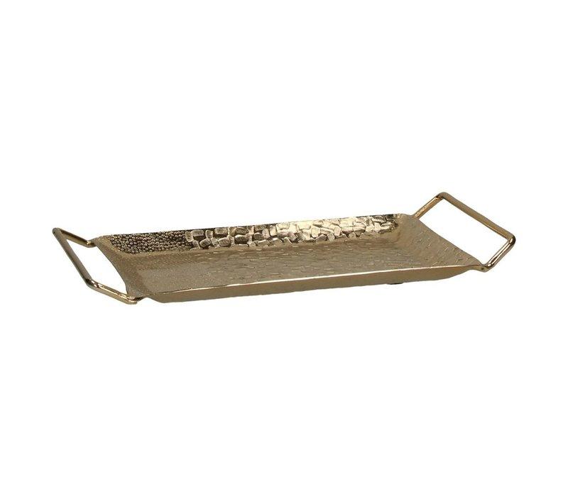 Tam Dao Tray in Aluminium & Gold
