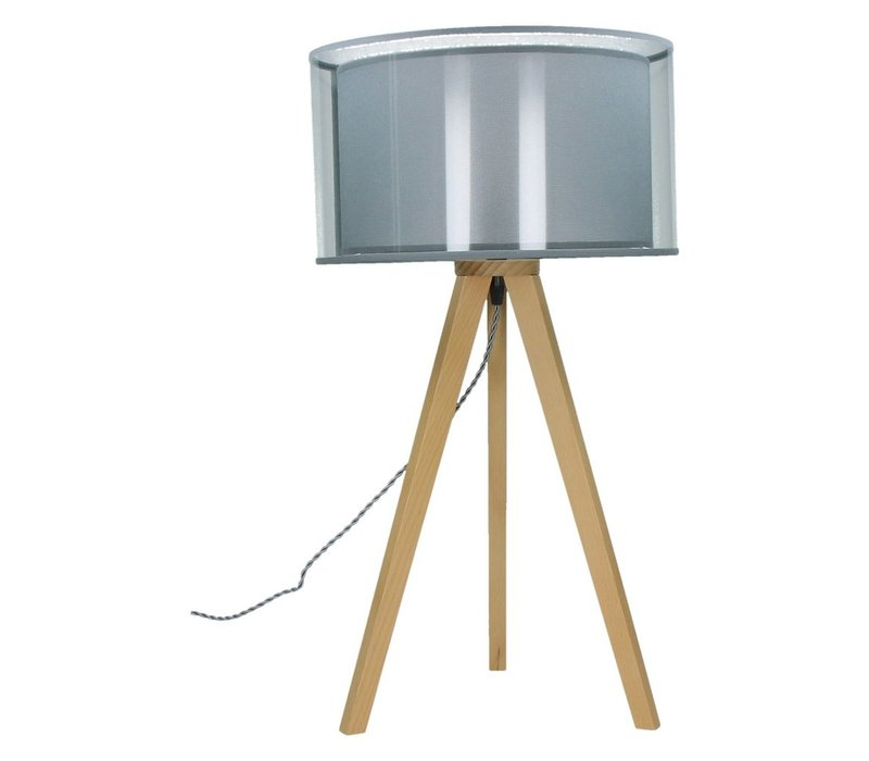 Lisbon Tripod Table Lamp (Beech Wood)