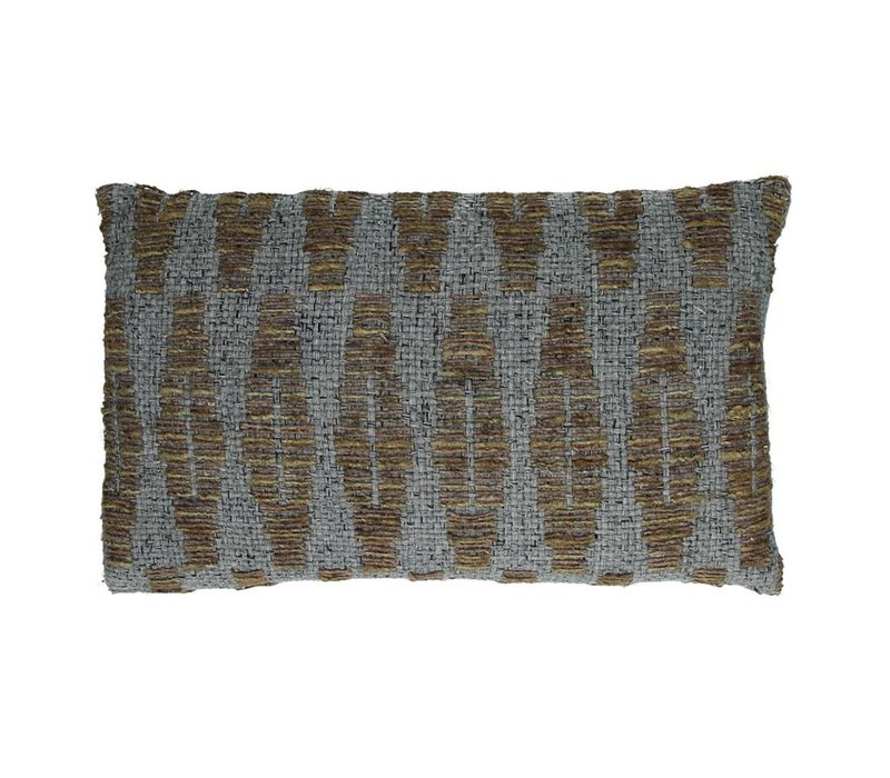 Ocean Deco Cushion in Grey
