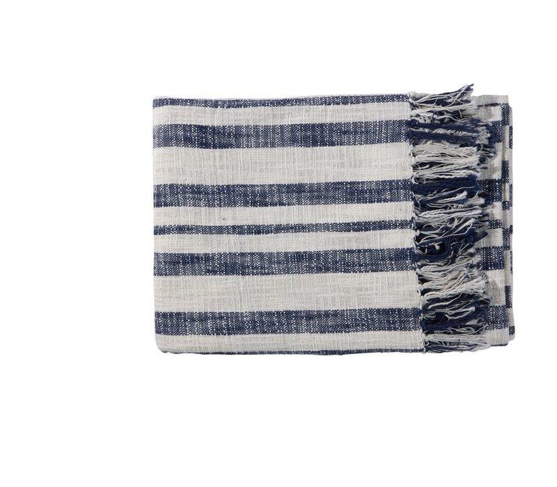 Alba Throw 130x170cm Blue & White