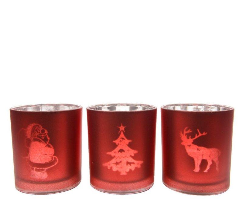 Tea-Light holder - deer, Santa or tree