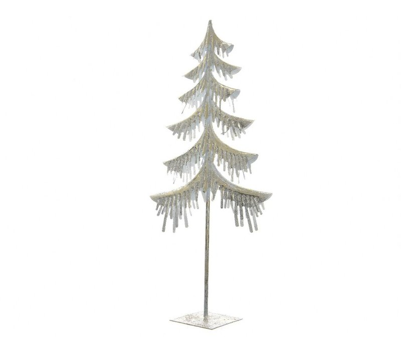 Tree with Glitter in Champagne Colour - Medium