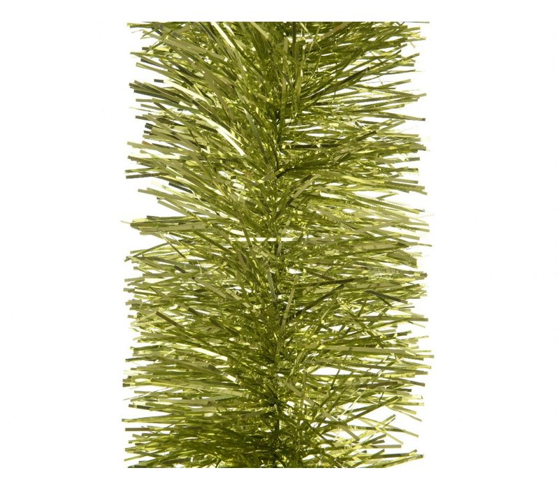 Tinsel garland in Olive Green 170cm