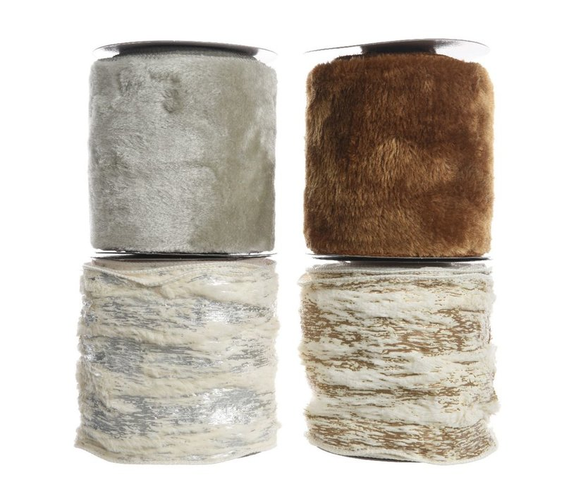 Fur Ribbon in Brown, Grey, Copper or Silver 270cm